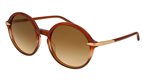 Pomellato pm0036s 002, occhiali da sole donna, marrone (002-brown/brown), 54