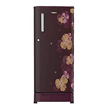 Whirlpool 190 L 3 Star Direct-Cool Single Door Refrigerator (WDE 205 ROY 3S, Wine Azalea, Toughened Glass Shelves) with Base Drawer