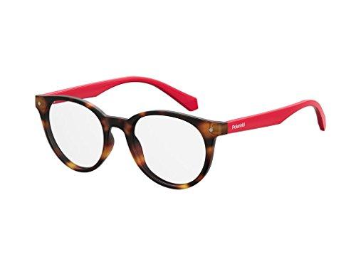 Polaroid Unisex-Kinder Sonnenbrille PLD D814 O63 45 Rot (Havana Red),