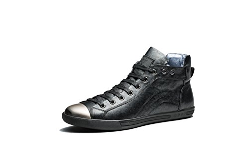 OPP Mode Homme Chaussures de Ville Side Zip Hautes Noir