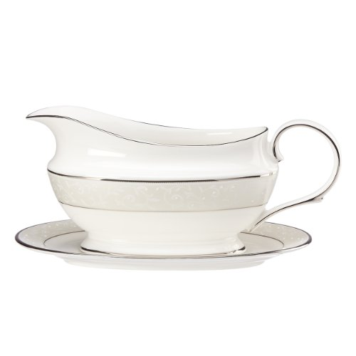 Lenox Opal Innocence Sauce Boat and Stand, White by Lenox - Lenox Sauce Boat Stand