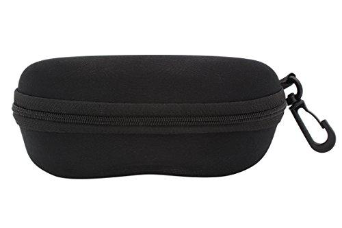 TBOC Brillenetui Hartschale für Gürtel - für Lesebrille Sonnenbrille Sportbrille Groß Modern und Leicht Design mit Haken zum Umhängen mit reißverschluss für Auto Tasche für Damen Herren und Kinder
