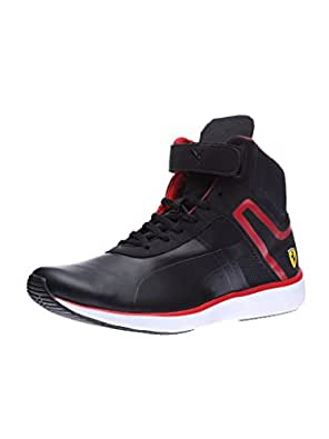 Puma Men's F116 Skin Mid SF Black and Rosso Corsa Sneakers - 6 UK/India (39 EU)
