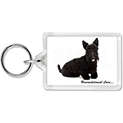 Scottish -Terrier-Hund - With Love Foto Schlüsselbund TierstrumpffüllerGeschenk