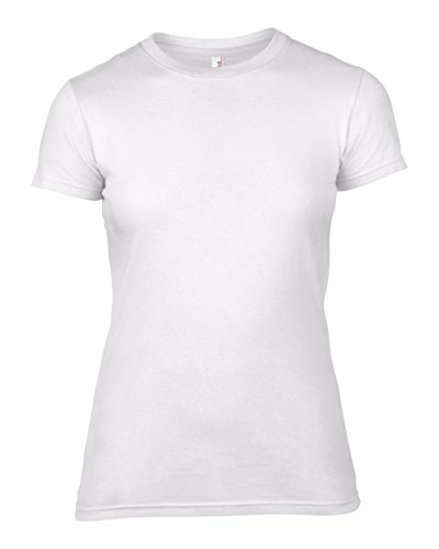 Anvil Frauen fit Mode - T - Shirt Weiß