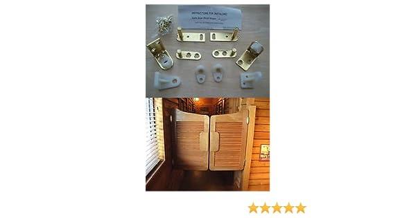 2 x  BRASS SWING SALOON DOOR HINGE CAFE BAR PUB GRAVITY PIVOT RANCH HINGES