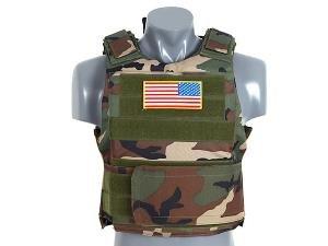 Gilet Veste Tactique Pare Balle Bille Camo Camouflage Woodland M51611014-wl Airsoft
