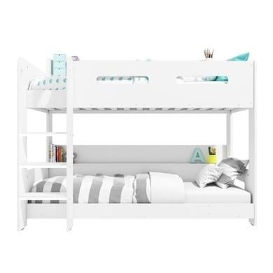White Kids Bunk Bed – Ladder Can Be Fitted Either Side! + Storage Shelves + FREE UK Delivery