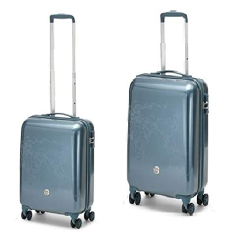 SET 2 TROLLEY RONCATO CIAK TODO II - 4 RUOTE - TSA - AIR FORCE BLUE