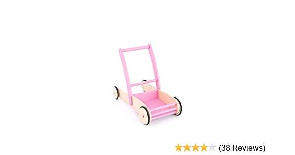 Laufwagen Mia aus Holz rosa United Kids Lauflernwagen