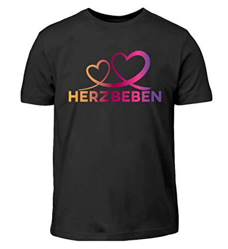 Herzbeben - Bunte Herzen - Liebe Helene - Kinder T-Shirt -9/11 (134/146)-Schwarz