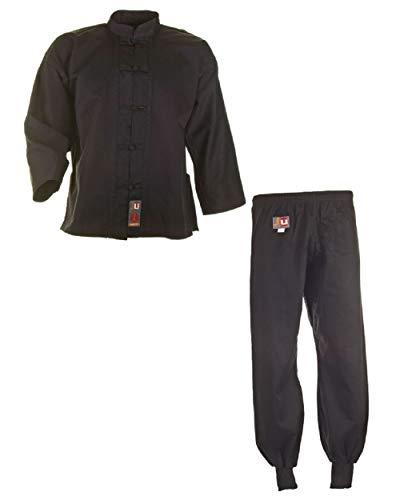 Ju-Sports Kung Fu Anzug, Tai Chi, WU SHU NEU schwarz Baumwolle, 9501, Gr. 160 (Wear Jacke Wu)