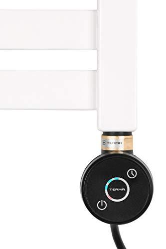 Thermostat Heizstab Heizpatrone für Badheizkörper Heizelement DIANA 1000 Watt Gerades Kabel ohne Stecker (Schwarz) -