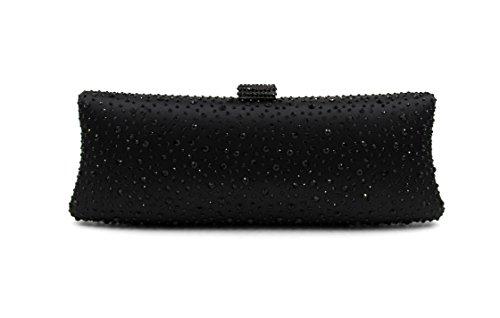 WYB Frau Damentasche / Europa Luxus heißen Bohrgeräts / Abendtasche / Abendbeutel / High-End-volle Diamant / Kupplung / Kette Black