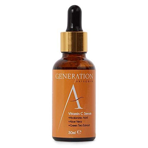 Generation Skincare Vitamin C Serum Hyaluronsäure Vitamin E - Beste Grundierung für Ihr Gesicht - Natürliche Anti Aging - Anti-Falten -...