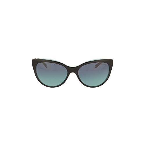 Tiffany 0ty4119 80559s, occhiali da sole donna, nero (black/blue/azuregradientbluee), 56
