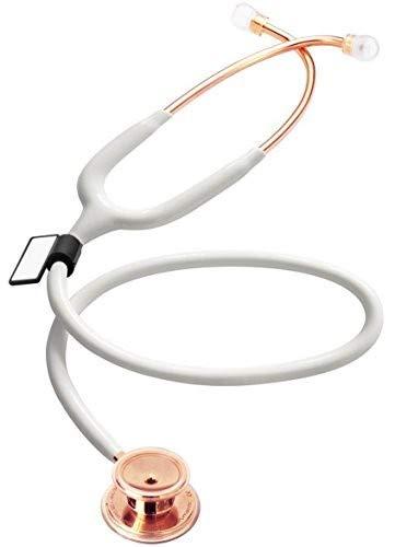 MDF® MD One® - Premium Zweikopf-Stethoskop aus rostfreiem Stahl - Gratis-Parts-for-Life & Lebenslange-Garantie -Weiß Roségold (MDF777RG-29)