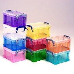 3 x Really Useful Box 6.5 Liter - 430x180x160mm - für 36 CDs/20 DVDs - transparent