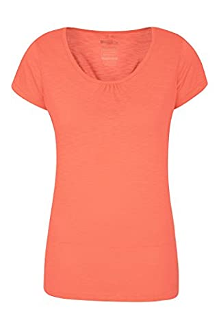 Mountain Warehouse Agra Damen Oberteil Sport T-Shirt atmungsaktiv Base Layer Funktionsshirt laufen fitness gym Orange DE 40 (EU (Fahrrad Tank Top)