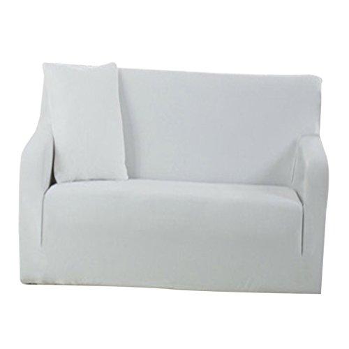 Sharplace Universal Sofahusse Sofabezüge Stretch Sofabezug Sesselbezug - Weiß, 1 Sitz 90-140cm