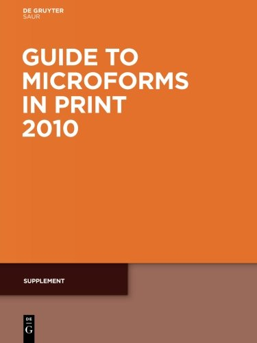 Supplement (Guide to Microforms in Print Supplement)
