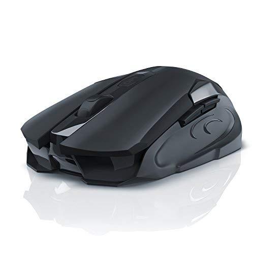 CSL Gaming-Maus, optische Funkmaus, 2,4GHz, 3200DPI Abtastrate, hohe Präzision, guter Grip, ergonomisches Design für Gamer, 5Tasten