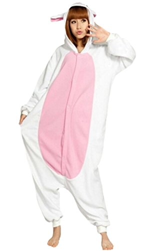 Dato Unisexe Anime Pajamas Kigurumi Adulte Pyjama Onesie Cospaly Party Costume de Deguisement Lapin