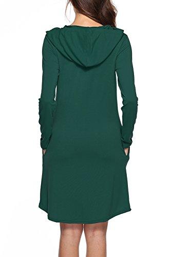 La Robe Pull Sweat Capuche Poches Swing Des Sommets green