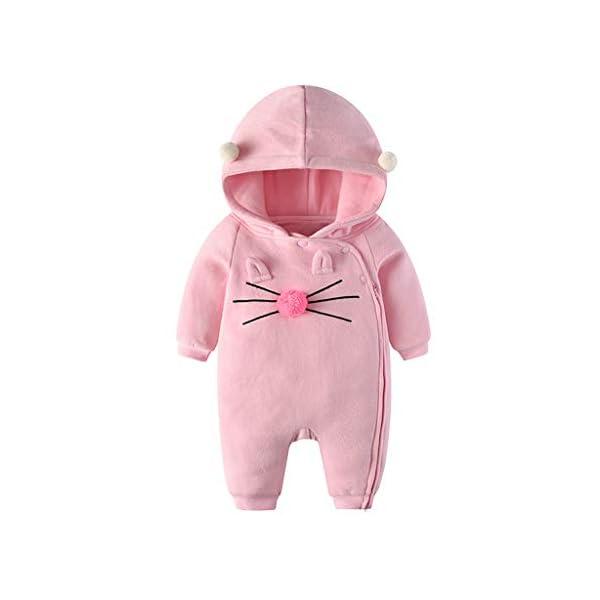 Traje de Moda Infantil Vogue Bebé recién Nacido bebé niña niño Floral Volante Mameluco Mono Trajes de Mono Conveniente… 3