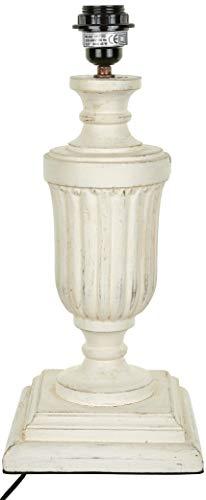 Better & Best 2811102 - lampe de table en bois en forme de coupe avec Gallones avec Base carrée, blanc