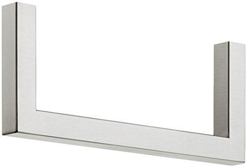 Moderne Wandgarderobe Paneel & Flur - H7005 Garderobenbügel Edelstahl Garderobenstange U-Form   Länge 300 mm   Kleiderbügelhalter für Fachboden-Montage   MADE IN GERMANY   1 Stück