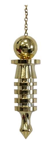 Berk PE-0460 Radiaesthesie - Isis-Péndulo, pequeño - latón macizo - Chapado en oro - Elaborado Alta Calidad - con símbolo místico de diosa egipcia Isis