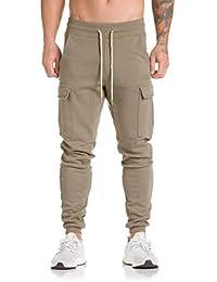 Pantalones Hombre Harem,Pantalones de chándal Pantalones Casual Jogger Dance Sportwear Baggy Absolute