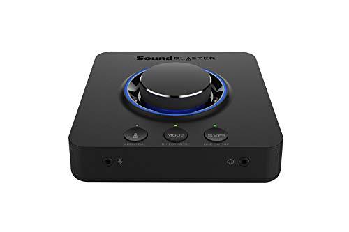 CREATIVE Sound Blaster X3 Hi-Res 7.1 Diskrete Externe USB-DAC- und Verstärker-Soundkarte mit Super X-Fi für PC und Mac