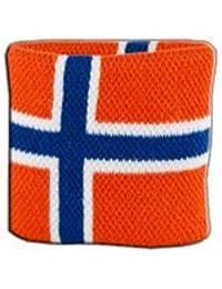 Digni® Poignet éponge avec drapeau Norvège, pack de 2
