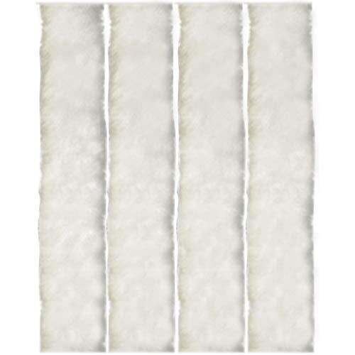 Flauschvorhang, Campingvorhang, Insektenschutz Uni farbend, Auswahl: weiß - perlweiß 90 x 200 cm