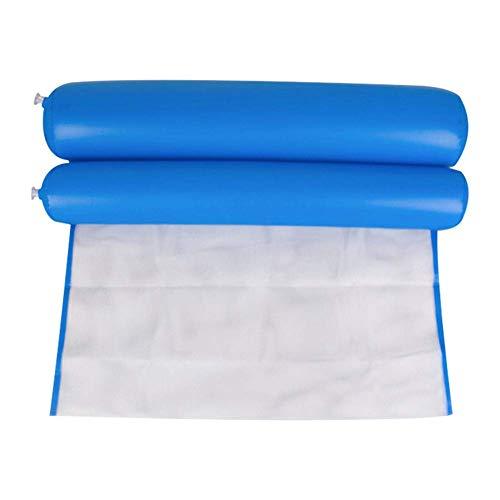 AoJuy Wasser Hängematte Pool Liege Schwimmer Hängematte Aufblasbar Flöße Schwimmbad Luft Leicht Schwimmende Stuhl Kompakt und Tragbar Schwimmbad Matte für Erwachsene und Kinder - Marineblau, Nylon -