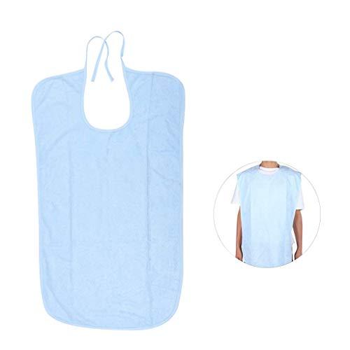 WUHX Älteres wasserdichtes Lätzchen, wiederverwendbares, waschbares Schutzmittel für Seniorenpatienten - leicht zu reinigen,Blue,50 * 70cm