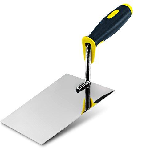 Cazzuola per mattoni in acciaio inox, 160 mm. generalmente utilizzati per «buttering