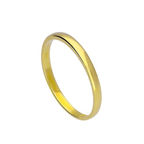 Bague Anneau de Mariage 2mm en Or Jaune 9 Carats - Taille 49