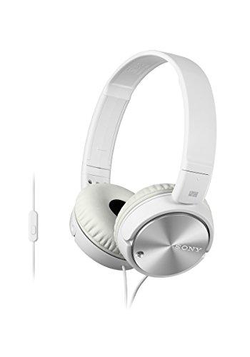 Sony Kopfhörer  MDR-ZX110NA faltbarer Bügelkopfhörer mit Digital Noise Canceling, weiß - 5