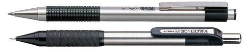 Zebra F-301 Deluxe Stainless Steel Ballpoint Pen & Pencil Set (Zebra Druckbleistift 301)