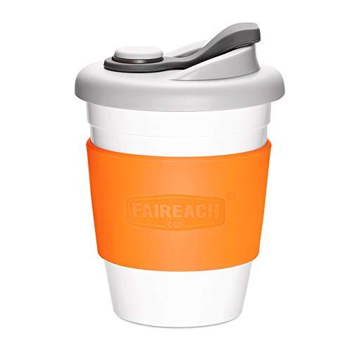 cc8f872ffb81eb Taza de Café para llevar con Tapa, Mug Café Reutilizable con Manga  Antideslizante, Coffee To Go Ecológica de Viaje con sin BPA, Vasos de Café  apto ...