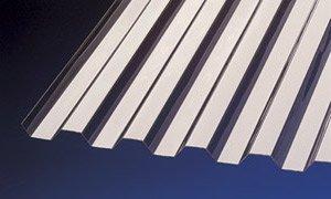 PVC Wellplatten Profilplatten Trapez 70/18 bronce ohne Struktur 3000 x 1090 mm
