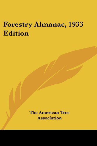 Forestry Almanac, 1933 Edition