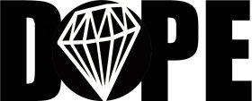 Mister Merchandise Tasche Dope Diamond Diamant Stofftasche , Farbe: Schwarz Schwarz