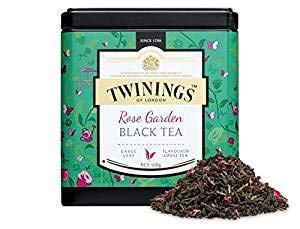 TWININGS Tea - Discovery Collection - Rose Garden Black Tea - 100gr Caddy Lose Tee