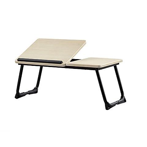 Coavas Table d'ordinateur portable lit de bureau d'ordinateur portable Table Table lecture bureau noir+beige