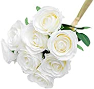 Artificial Roses Flowers 9 Heads Arrangement Silk Bouquet Glorious Moral for Home Office Parties and Wedding D