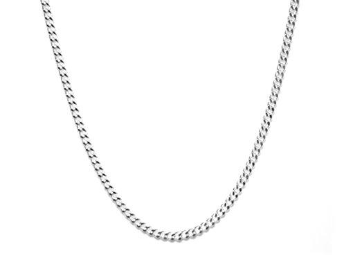 Arranview Jewellery - Cadena de Plata de Ley 925, de 46cm– estilo con anillas, de 2 mm, para hombre